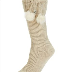 UGG women's rain boot socks. Pom Pom short